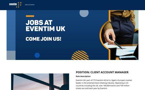 Screenshot of Jobs Page eventim.co.uk - Jobs at Eventim - captured Jan. 27, 2019