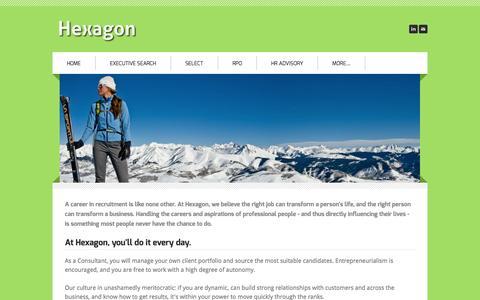 Screenshot of Jobs Page hexagonsearch.com - Careers - Hexagon - captured Oct. 2, 2014
