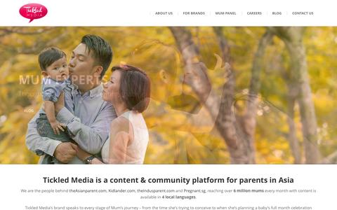 Screenshot of Home Page tickledmedia.com - Tickled Media - Mums click with us! - captured Oct. 1, 2015