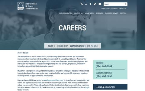 Screenshot of Jobs Page stlmsd.com - Careers - captured Oct. 27, 2014