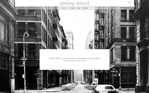 Screenshot of About Page springstreetads.com - spring street - captured Dec. 1, 2016