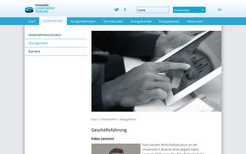 Screenshot of Team Page clens.eu - Clean Energy Sourcing - Wir liefern Grünstrom für Großkunden: Management - captured Oct. 10, 2017