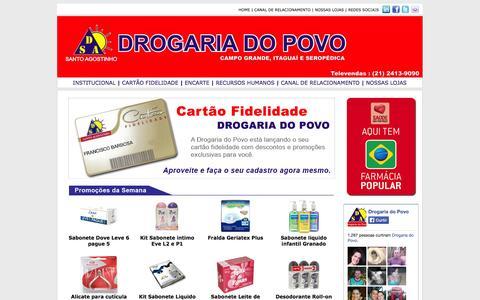 Screenshot of Home Page drogariadopovo.com - .'.'.'. DROGARIA DO POVO .'.'.'. - captured Sept. 30, 2014