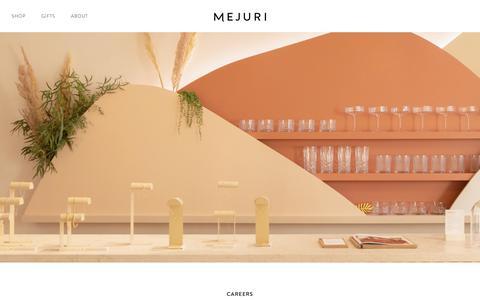 Screenshot of Jobs Page mejuri.com - Careers | Mejuri - captured Oct. 13, 2019