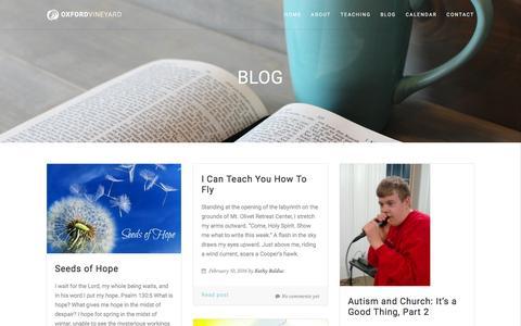 Screenshot of Blog oxfordvineyard.com - The Oxford Vineyard   –  Blog - captured Dec. 1, 2016