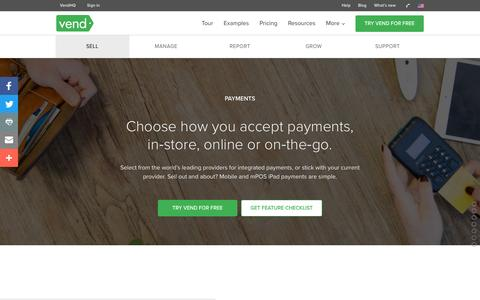 Accept Payments in Store with Vend for Retailers | Vend POS | Vend US