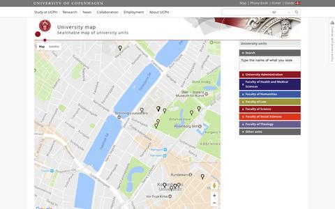 Screenshot of Maps & Directions Page ku.dk - University map – University of Copenhagen - captured Jan. 31, 2017