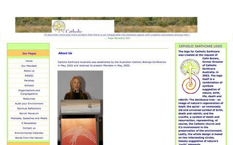 Screenshot of About Page catholicearthcare.org.au - AboutUsJuly09 - captured Sept. 29, 2014