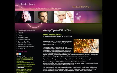 Screenshot of Blog oriettaleva.com - Makeup Tips and Tricks  Blog - captured Feb. 28, 2016
