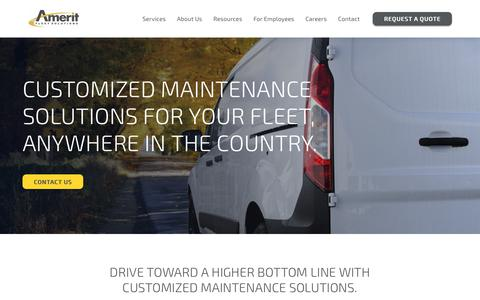Screenshot of Services Page ameritfleetsolutions.com - Amerit Fleet Solutions | Fleet Maintenance Services - captured Nov. 6, 2018