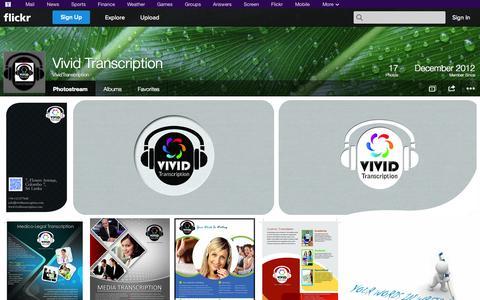 Screenshot of Flickr Page flickr.com - Flickr: VividTranscription's Photostream - captured Oct. 25, 2014
