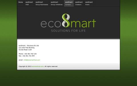 Screenshot of Contact Page ecosmarthub.com - ecoSmart - captured Oct. 3, 2014