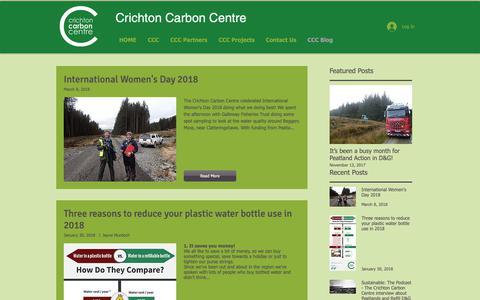 Screenshot of Blog carboncentre.org - Crichton Carbon Centre | CCC Blog - captured Sept. 30, 2018