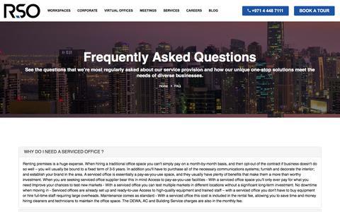 Screenshot of FAQ Page r-offices.com - FAQ - Serviced Offices in Dubai - Serviced Offices JLT - R-Offices UAE - captured Sept. 25, 2018