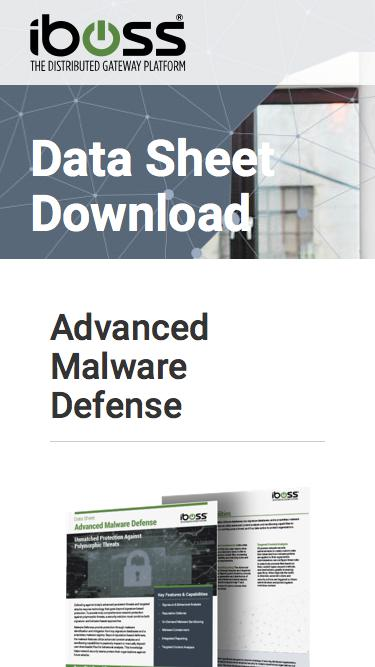 Advanced Malware Defense data sheet