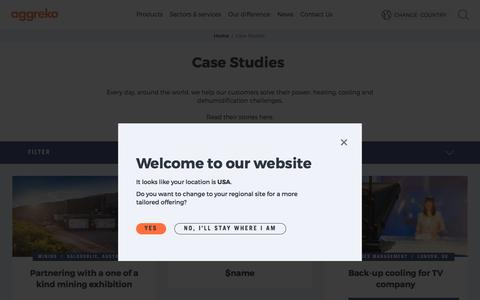 Screenshot of Case Studies Page aggreko.com - Case Studies | Aggreko - captured Dec. 27, 2017