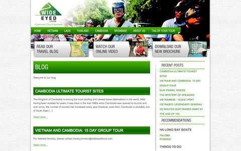 Screenshot of Blog wideeyedtours.com - Blog | Wide Eyed Tours Vietnam - captured Oct. 7, 2014