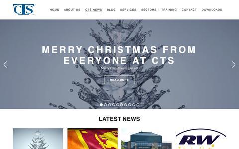 Screenshot of Press Page ctsltd.com - CTS - captured Jan. 27, 2016