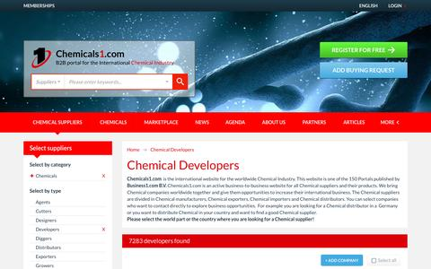Screenshot of Developers Page chemicals1.com - Chemical Developers - Chemicals1.com - captured Jan. 9, 2017