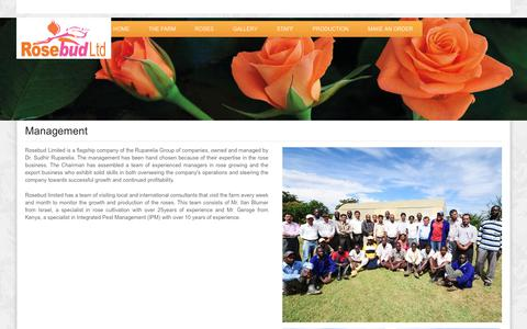 Screenshot of Team Page rosebudlimited.com - Management | Rosebud Limited - captured Sept. 21, 2018