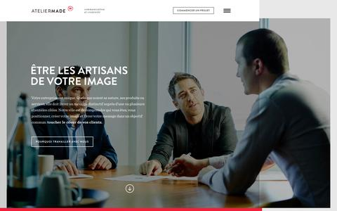 Screenshot of Home Page ateliermade.ca - Atelier Made - captured Sept. 11, 2015