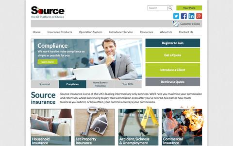 The Source | Home Insurance, Let Property Insurance, Unemployment Insurance, Income Protection Insurance and Commercial Insurance quotation software for Brokers, IFAs and Financial Intermediaries