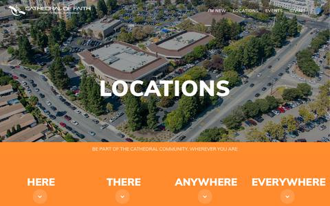 Screenshot of Locations Page cathedraloffaith.org - Locations   Cathedral Of Faith - captured July 16, 2018