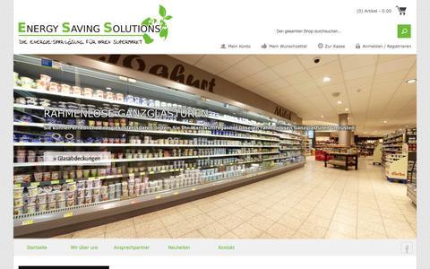 Screenshot of About Page es-solutions.net - Supermarkteinrichtung, Ladeneinrichtung. Ladenausstattung - captured Oct. 3, 2014