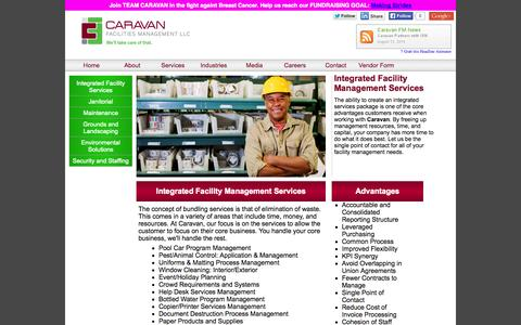 Screenshot of Services Page caravanfm.com - Caravan Facilities Management|Integrated Services - captured Oct. 1, 2014