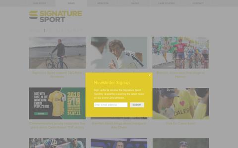 Screenshot of Press Page signaturesport.com.au - News · Signature Sport - captured Feb. 17, 2016