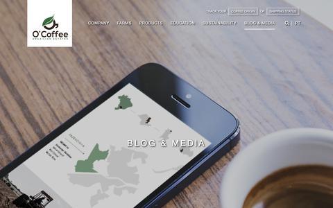 Screenshot of Press Page ocoffee.com.br - O'Coffee | Media - captured June 10, 2017