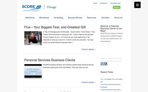 Screenshot of Blog scorechicago.org - SCORE Chicago Blog and Featured Business Owners - captured Aug. 15, 2017