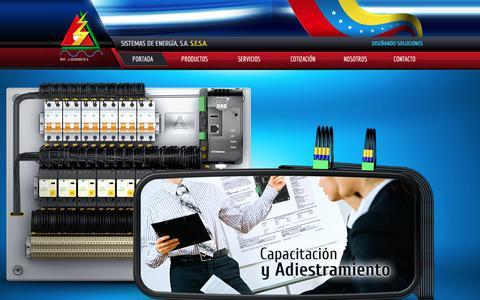 Screenshot of Home Page esesa.com - Sistemas de Energía, S.A. S.E.S.A - captured Feb. 4, 2016