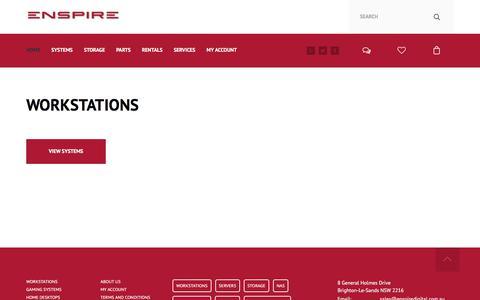 Screenshot of Home Page enspiredigital.com.au - Enspire - captured July 1, 2018