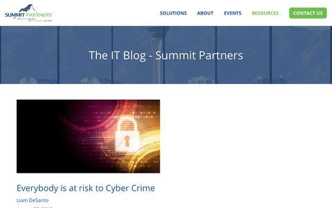Screenshot of Blog gosummitpartners.com - Summit Partners - captured Sept. 27, 2018