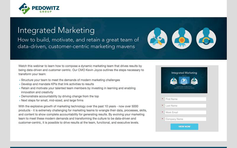 Integrated Marketing: how to build, motivate, and retain a great team of data-driven, customer-centric marketing mavens