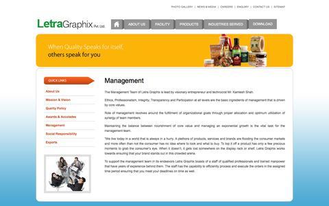 Screenshot of Team Page letragraphix.com - Welcome to Letra Graphix - captured Oct. 2, 2014