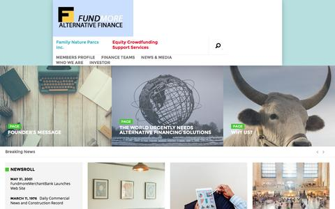 Screenshot of Home Page fundmorealternativefinance.com - Fundmore Alternative Finance - Fundmore Alternative Finance - captured Feb. 10, 2016