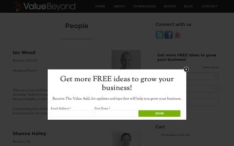 Screenshot of Team Page valuebeyond.com.au - Our People — Value Beyond - captured Feb. 13, 2016