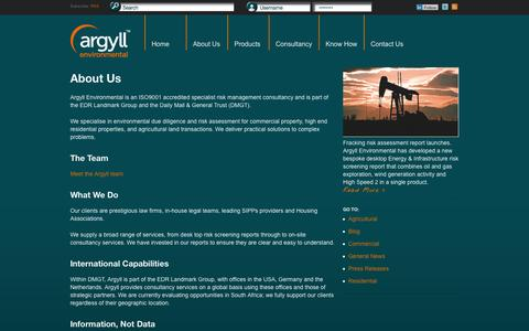 Screenshot of About Page argyllenvironmental.co.uk - About Us - Argyll Environmental - captured Oct. 4, 2014