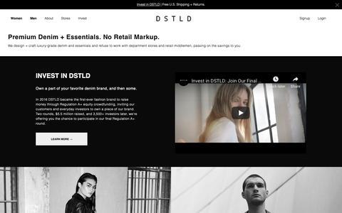 Screenshot of Home Page Terms Page dstld.com - DSTLD - captured Dec. 19, 2018