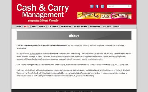 Screenshot of About Page cashandcarrymanagement.co.uk - About - Cash & Carry Management - captured Jan. 26, 2016