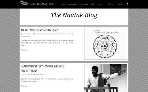 Screenshot of Press Page naatak.com - naatak –News - captured Oct. 18, 2017