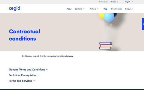Screenshot of Terms Page cegid.com - Terms & conditions - CEGID - captured Nov. 28, 2019