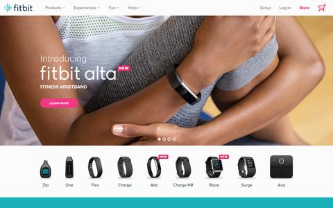Screenshot of Home Page fitbit.com - Fitbit Official Site for Activity Trackers & More - captured Feb. 3, 2016