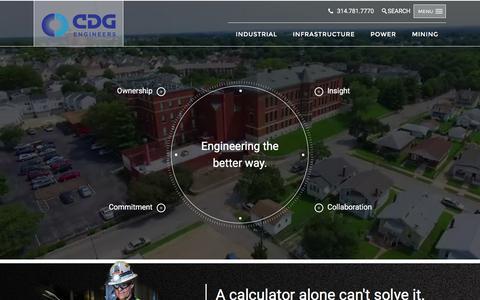 Screenshot of Home Page cdgengineers.com - CDG Engineers Inc. - Professional Engineering Consultants - captured Oct. 5, 2016