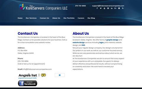 Screenshot of About Page thekoreserverscompanies.com - About Us - The KoreServers Companies, LLC. | Web Design, Logo Design, Social Media Marketing | Serving Nationwide Areas - captured Oct. 20, 2018