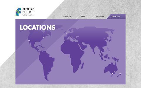 Screenshot of Locations Page futurebuild.com - FutureBuild - Building & Construction Solutions - captured Aug. 5, 2016