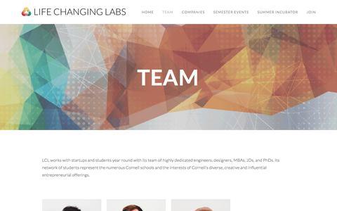 Screenshot of Team Page lifechanginglabs.com - Team — Life Changing Labs - captured July 18, 2018