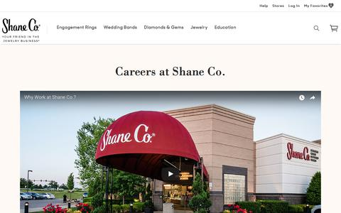 Screenshot of Jobs Page shaneco.com - Careers at Shane Co. - captured March 7, 2018